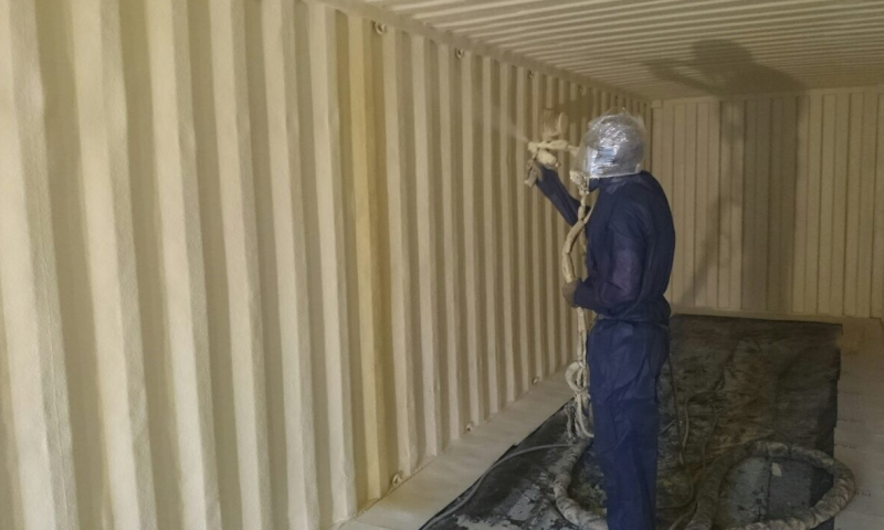 Container Spray Insulation