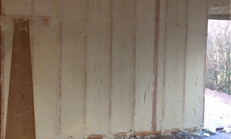 Timber Frame Sprayfoam Insultation